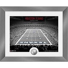 Houston Texans Art Deco Stadium Silver Coin Photo Mint