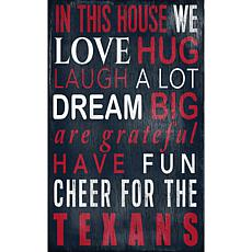 Houston Texans In This House Sign