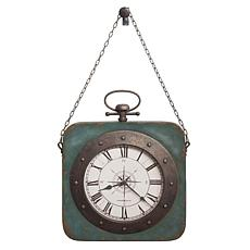 """Howard Miller """"Windrose"""" Antique Metal Wall Clock on a Chain"""