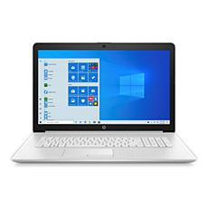"""HP 17.3"""" 8GB 1TB HDD 128GB SSD Touchscreen Laptop in Natural Silver"""