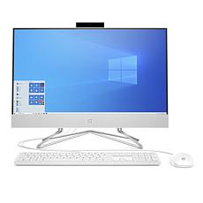HP All-in-One 512 GB Iris Xe Computer w/Wired Keyboard & Mouse (White)