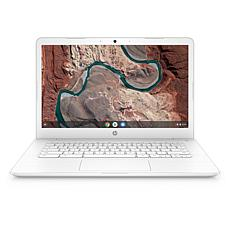 "HP Chromebook 14"" Dual-Core AMD A4 4GB RAM, 32GB eMMC Laptop - White"