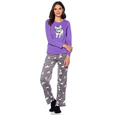 HUE 2pc Whimsical Print Pajama Set with Socks - Plus