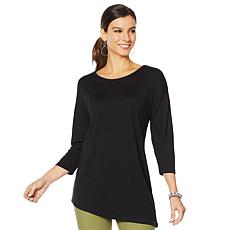 HUE 3/4-Sleeve Crew Neck Tunic - Missy