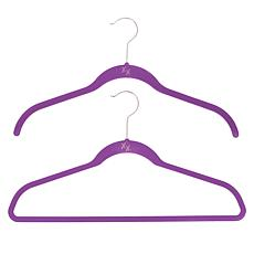 Huggable Hangers 60-pack of Shirt & Suit Hangers with Chrome Hooks