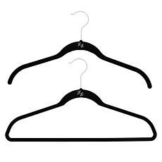 Huggable Hangers with Odor Eliminators Chrome 74-piece Set