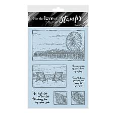 Hunkydory Crafts For the Love of Stamps - Beach View A6 Stamp Set