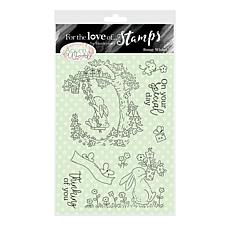 Hunkydory Crafts For the Love of Stamps - Bunny Wishes A6 Stamp Set