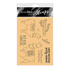 Hunkydory Crafts For the Love of Stamps - Llama Love A6 Stamp Set