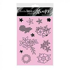 Hunkydory Crafts For the Love of Stamps - Petals & Patterns A6 Set