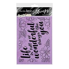 Hunkydory Crafts For the Love of Stamps - Wonderful Life A6 Stamp Set