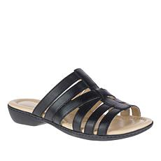 Hush Puppies Dachshund Leather Strappy Slide Sandal