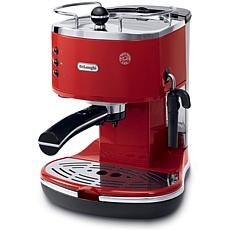 Icona 15-Bar Pump Driven Espresso/Cappuccino Maker - Red
