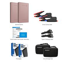 iDeaPLAY Portable Vehicle Jump Starter 2pk with Accessories