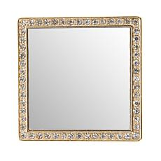 iDecoz Square Restickable Phone Mirror - Goldtone