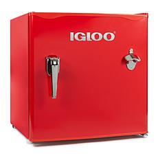 Igloo 1.6 Cu. Ft. Classic Compact Single Door Red Refrigerator Freezer