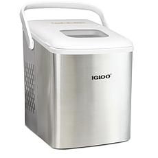 Igloo ICEB26HNSSWL Handled Ice Maker - Stainless Steel and White