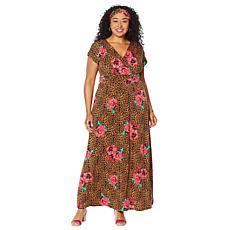 IMAN Boho Chic Maxi Dress with Head Wrap