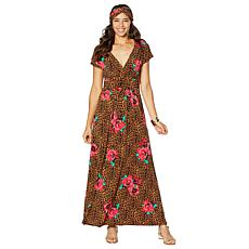 IMAN Boho Chic Maxi Dress with Head Wrap