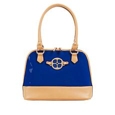 IMAN City Chic Patent Dome Satchel