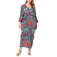 IMAN City Chic Printed Caftan Dress