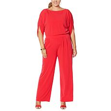IMAN Global Chic Bateau-Neck Jumpsuit