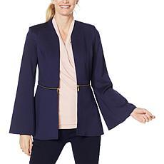 IMAN Global Chic Convertible Bell-Sleeve Ponte Blazer