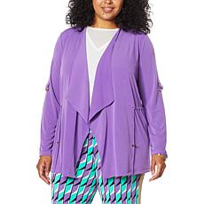 IMAN Global Chic Drape-Front Utility Topper