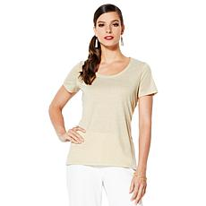 IMAN Global Chic Dressed & Ready Signature Shimmer Top