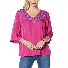 IMAN Global Chic Embroidered Caftan