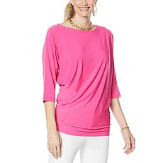 IMAN Global Chic Illusion Chic Dolman-Sleeve Top