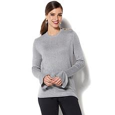 IMAN Global Chic Luxe Signature Subtle Bell Sleeve Sweater