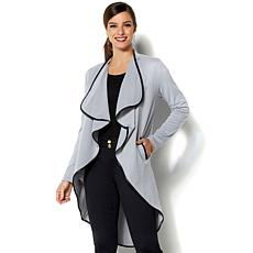 IMAN Global Chic Luxurious Lightweight Knit Cascading Topper