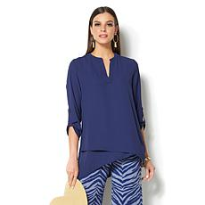 IMAN Global Chic Luxury Resort 3/4-Sleeve Draped Tunic