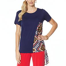 IMAN Global Chic Luxury Resort Asymmetric Scarf Top
