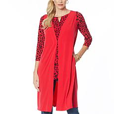 IMAN Global Chic Luxury Resort Duster Vest