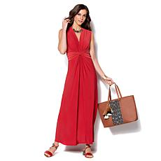 d881afa4ba3 IMAN Global Chic Luxury Resort Knockout Maxi Dress and Necklace ...