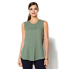 IMAN Global Chic Luxury Resort Pleated Front Tank