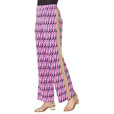 IMAN Global Chic Palazzo Pant with Gold Trim
