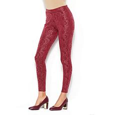 IMAN Global Chic Polished to Perfection Brocade Legging