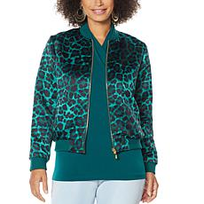 IMAN Global Chic Reversible Bomber Jacket