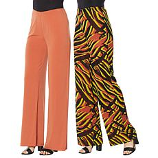 IMAN Global Chic Reversible Palazzo Pant