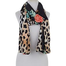 IMAN Global Chic Reversible Printed Woven Scarf