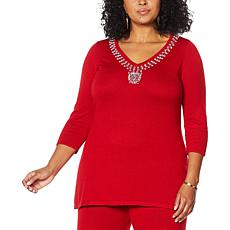 IMAN Global Chic Touch of Cashmere Sweater Tunic