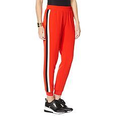 IMAN Global Smocked Waist Side Stripe Jogger Pant