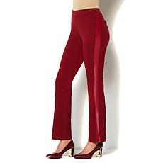 IMAN Platinum Bootcut Stretch Ponte Pant with Tuxedo Stripe