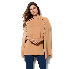 IMAN Runway Chic Luxurious Knit Draped Poncho