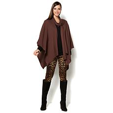 IMAN Runway Chic Luxurious Tie Wrap Ruana