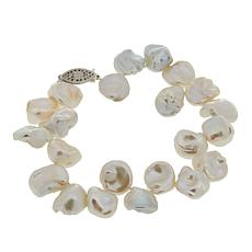 "Imperial Pearls 10-12mm Cultured Keshi Pearl  7-1/2"" Bracelet"