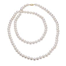 "Imperial Pearls 36"" 14K 8-8.5mm Cultured Freshwater Pearl Necklace"
